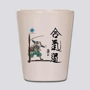 Peaceful Warrior and Aikido Caligraphy Shot Glass