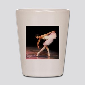 """alone on stage"" Shot Glass"