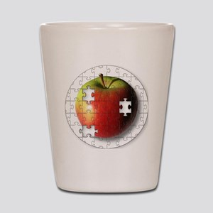 ESEteachersPuzzleApple Shot Glass