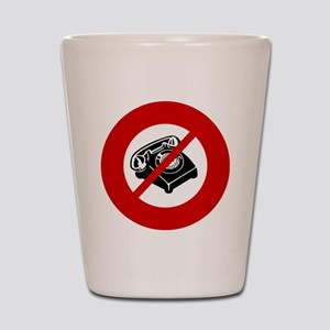 no-telemarketers Shot Glass