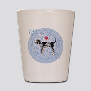 bluetick-charm2 Shot Glass