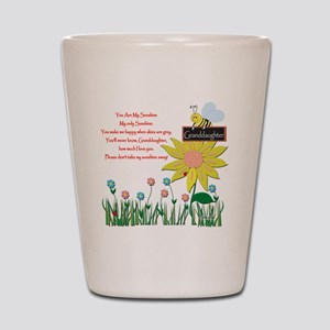 You Are My Sunshine Grandaughter Shot Glass