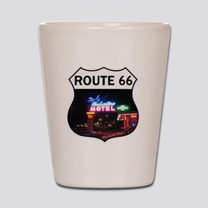 Route 66 - Blue Swallow Motel, Tucumcar Shot Glass