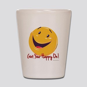 Happy Get Your Happy On 10x10 Shot Glass