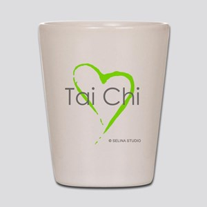 taichi heart - middle Shot Glass