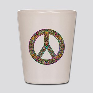 Peace Symbol Psychedelic Art Design Shot Glass