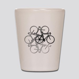 Bicycle circle Shot Glass