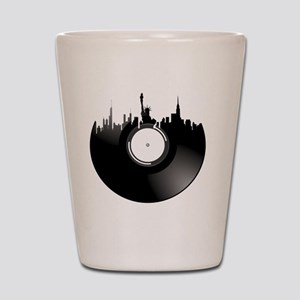 New York City Vinyl Record Shot Glass
