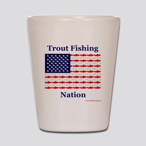 trout nation Shot Glass