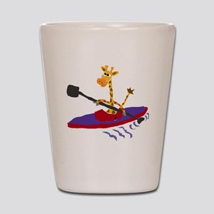 Giraffe Kayaking Shot Glass