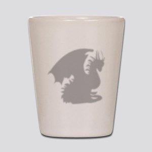Dragon silhouette shower curtain Shot Glass
