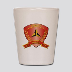 USMC - HQ Bn - 3rd Marine Division Shot Glass
