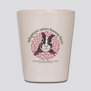 adoptionsavesbunnies-PINKtotebag Shot Glass