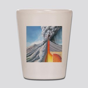 Stratovolcano, internal structure Shot Glass