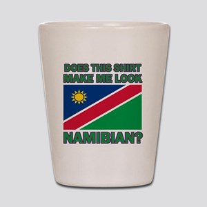 Does This Shirt Make Me Look Namibian? Shot Glass