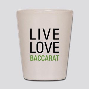 Live Love Baccarat Shot Glass