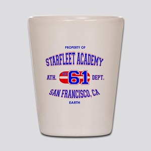 Starfleet Ath-Dept White Shot Glass