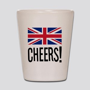 British Cheers Pint Glass Shot Glass