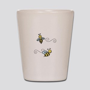 Bees Shot Glass