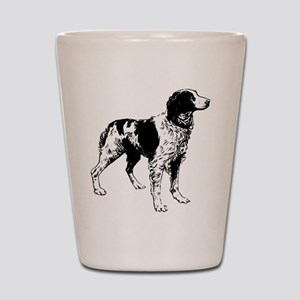 brittany spaniel drawing Shot Glass