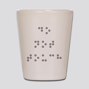Do Not Touch in Braille (Grey) Shot Glass