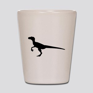 Dinosaur velociraptor Shot Glass