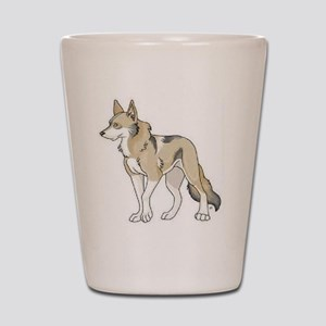 Tamaskan Dog Showing Club Logo Shot Glass