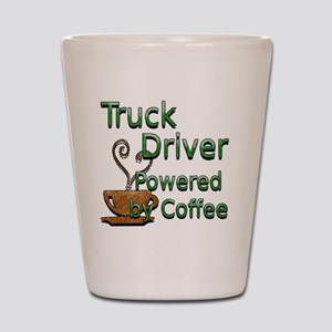 coffee truck driver Shot Glass