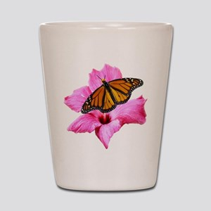 Hibiscus and Butterfly Shot Glass