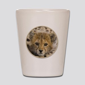 yule cheetah baby Shot Glass