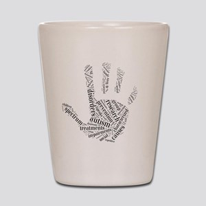 Autism - Talk To The Hand Shot Glass