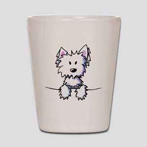 Pocket Westie Caricature Shot Glass