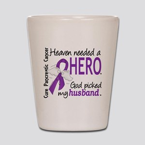 Pancreatic Cancer Heaven Needed Hero 1. Shot Glass