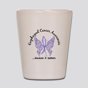 Esophageal Cancer Butterfly 6.1 Shot Glass