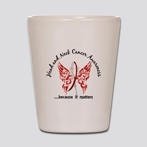 Head Neck Cancer Butterfly 6.1 Shot Glass