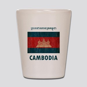 Vintage Cambodia Shot Glass