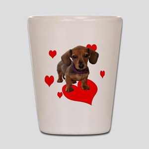 Love Dachshunds Shot Glass