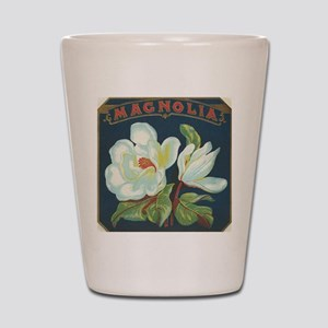 Magnolia antique cigar label Shot Glass