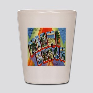 Vintage Miami Beach Postcard Shot Glass
