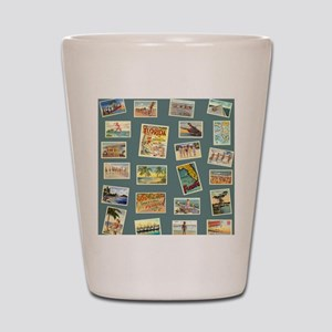 Vintage Florida Postcards Shot Glass