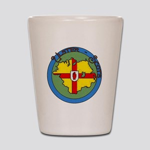 Ulster-Scots flag & map logo Shot Glass
