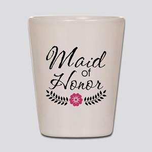 Cute Pink Maid of Honor Shot Glass