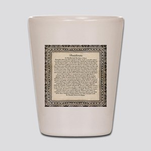 Olde Goth Design Desiderata Poem Shot Glass