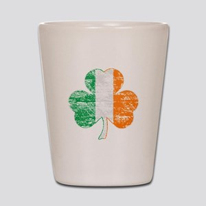 Vintage Irish Flag Shamrock Shot Glass