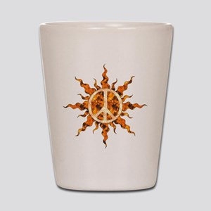 Flaming Peace Sun Shot Glass