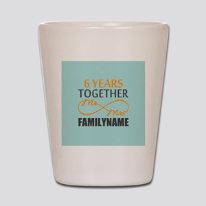 6th Anniversary Infinity Personalized Shot Glass