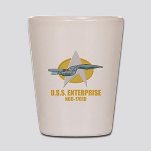 Personalized Galaxy Class Starship Shot Glass