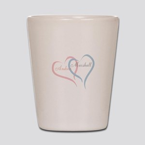 Twin Hearts to Personalize Shot Glass
