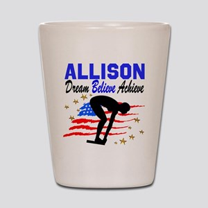 PERSONALIZE SWIMMER Shot Glass