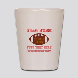 Football Personalized Shot Glass